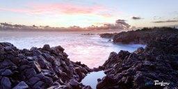 Crépuscule à l'Etang Salé (La Réunion)