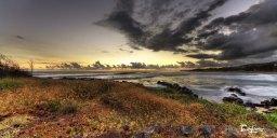 Coucher de soleil sur la plage de 3 bassins à la Réunion Photo n°1