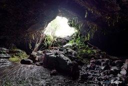Tunnel de lave sous la coulée 2004, à l'île de La Réunion Photo n°3