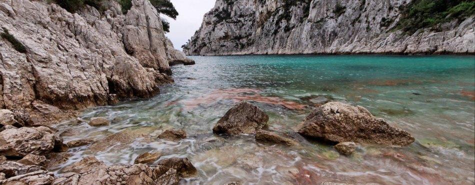 Calanque d'En Vau, entre Marseille et Cassis
