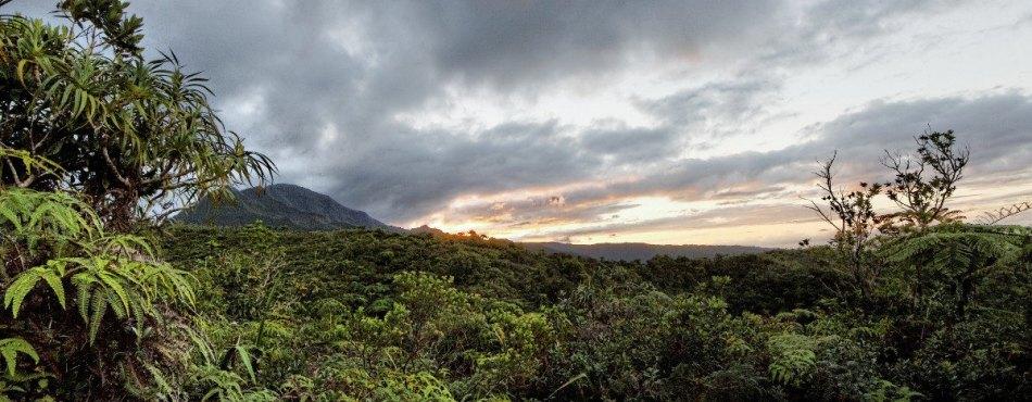 Coucher de soleil sur le Belvédère de l'Eden