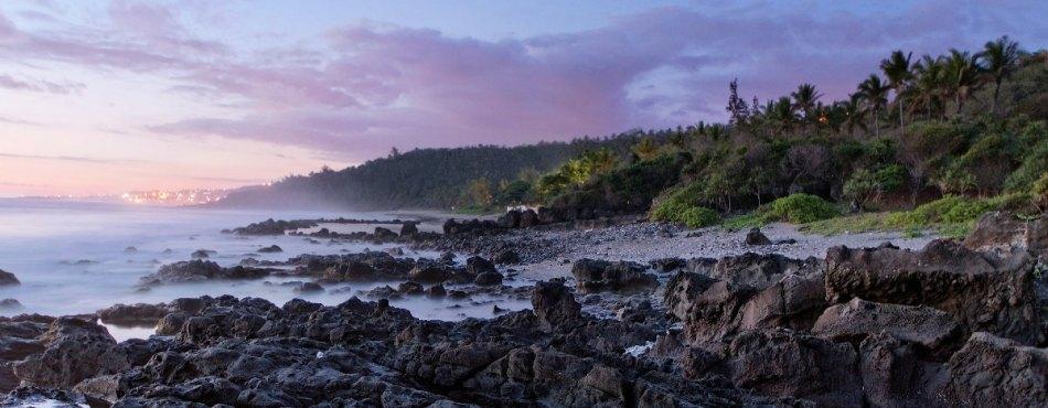 Début de soirée sur Grand Anse - Réunion