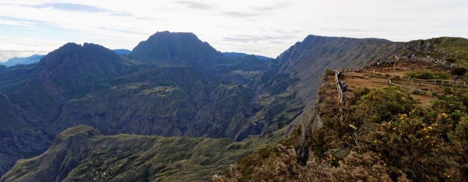 Points de vue de Mafate et Cilaos depuis le Maïdo - Réunion