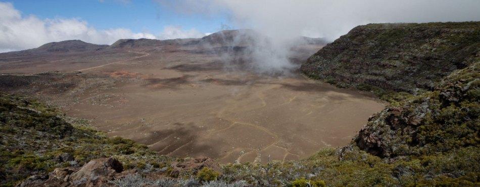 Vues panoramiques de la Plaines des Sables, sur le sentier de Morne Langevin (La Réunion)