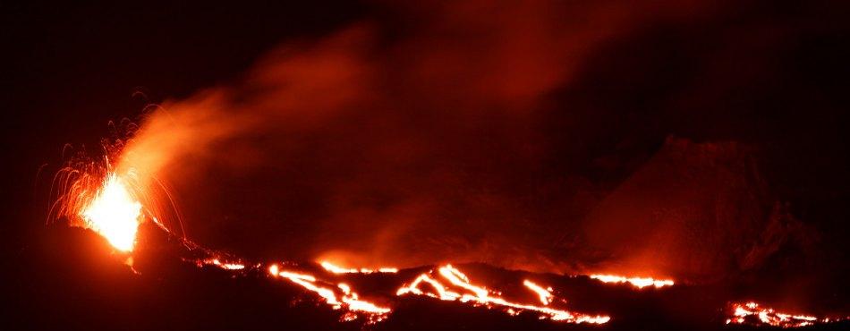 Eruption volcanique du Piton de la Fournaise - 7ème jour - Mai 2015