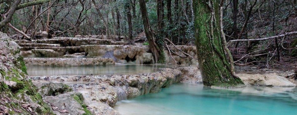 Les vasques de l'Huveaune dans le massif de la Sainte-Baume - Var (83)